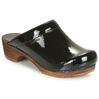 Sanita  CLASSIC PATENT  womens Clogs (Shoes) in Black  Verne