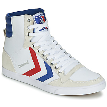 Trainers Hummel SLIMMER STADIL HIGH White / Blue / Ribbon Red 350x350