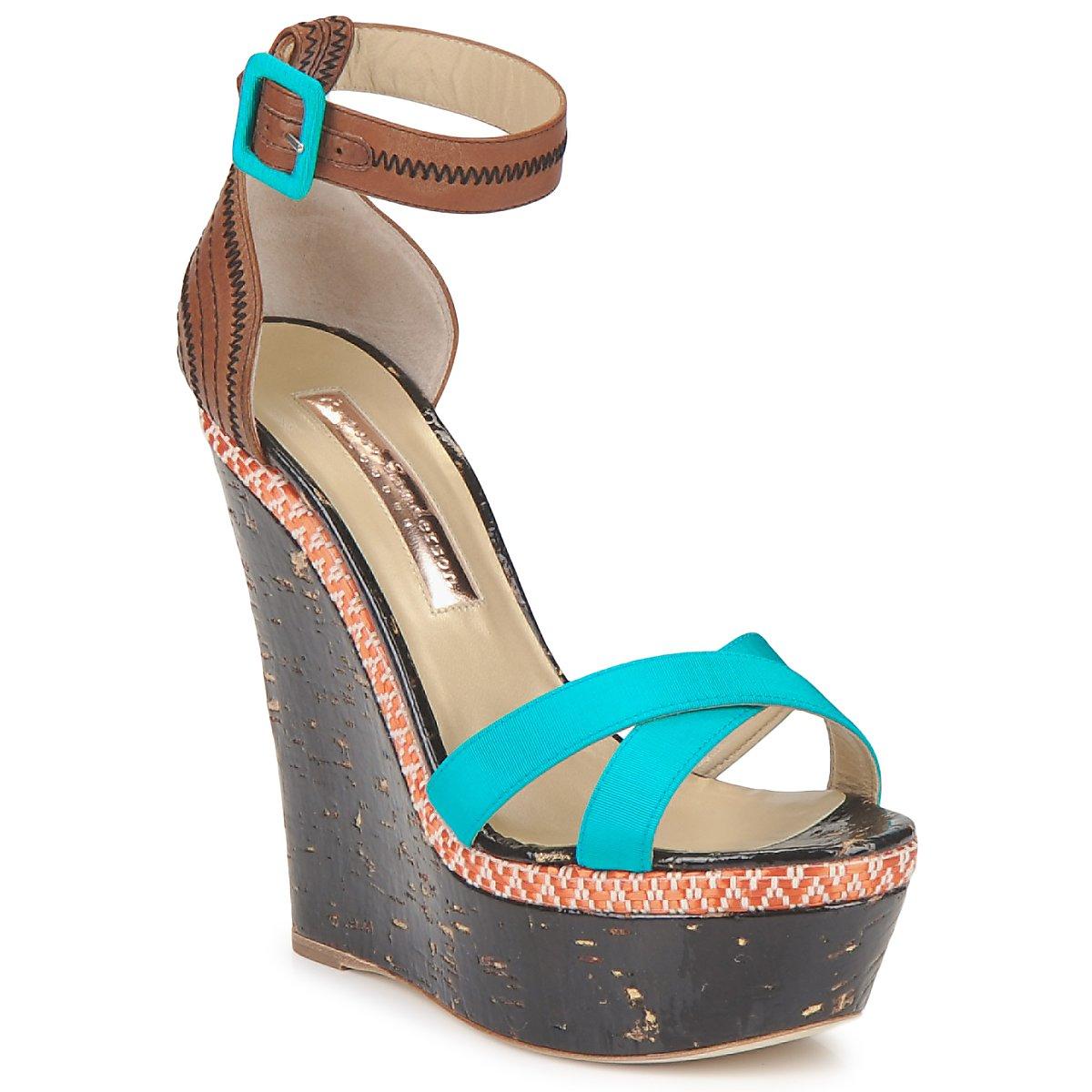 Sandals Rupert Sanderson NISSA Blue