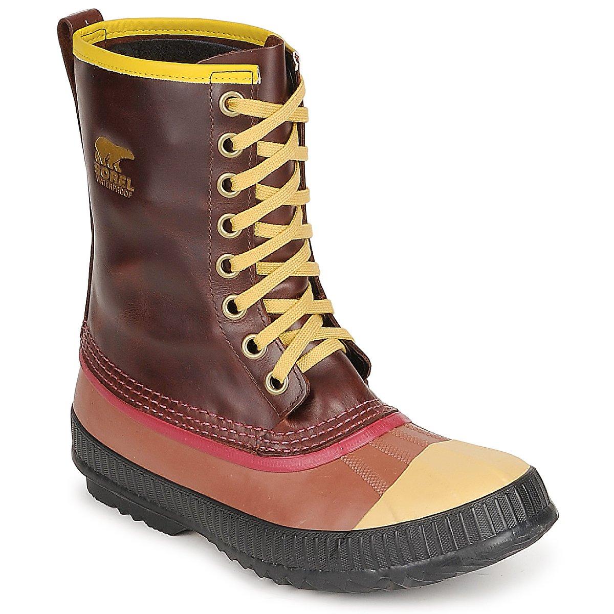 snow boots sorel mens sentry original brown free