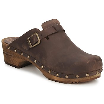 Sanita  KRISTEL OPEN  womens Clogs (Shoes) in Brown