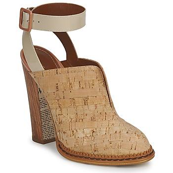 John Galliano  AN9211  womens Clogs (Shoes) in BEIGE