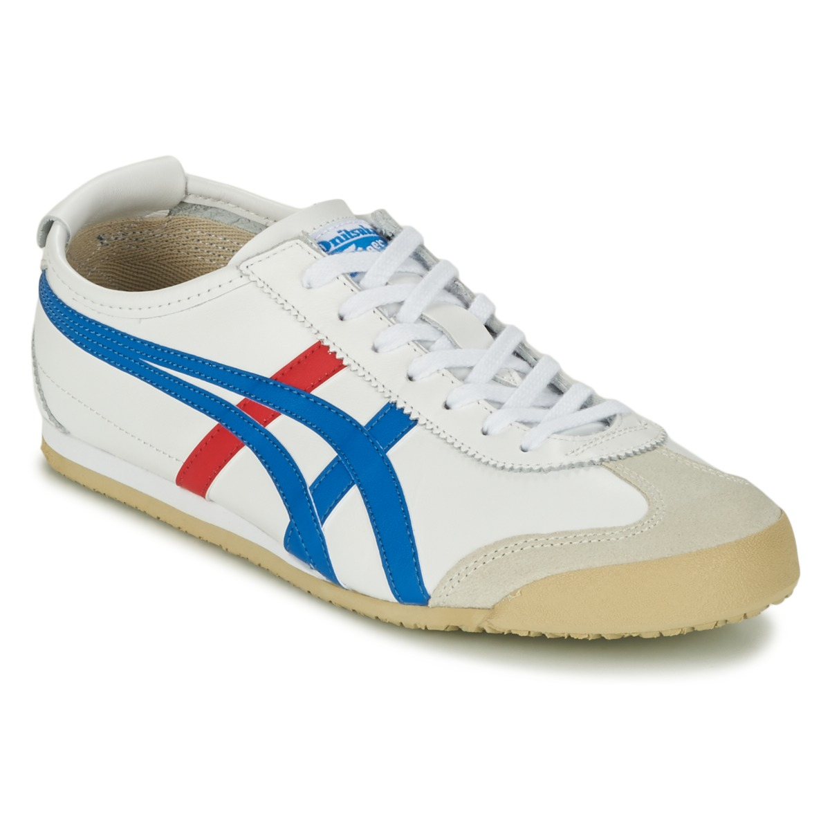 low top trainers onitsuka tiger mexico 66 white blue red free delivery with spartoo uk. Black Bedroom Furniture Sets. Home Design Ideas