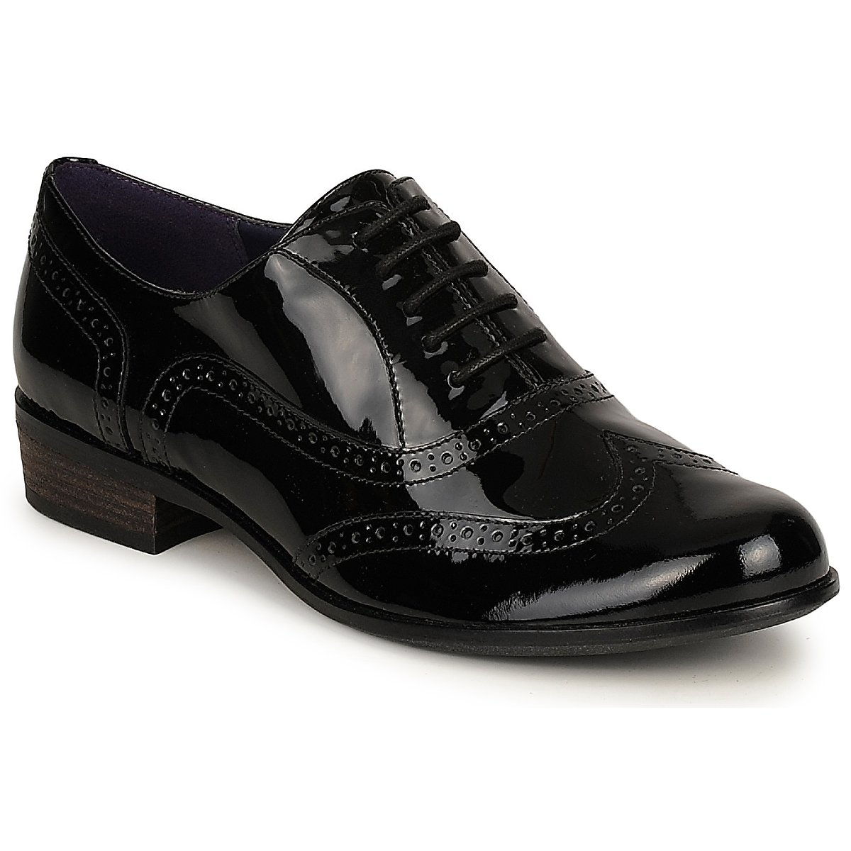 brogues clarks hamble oak black patent free delivery with spartoo uk shoes women. Black Bedroom Furniture Sets. Home Design Ideas