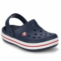 Crocs CROCBAND boys / Children's Clogs (Shoes) in Navy