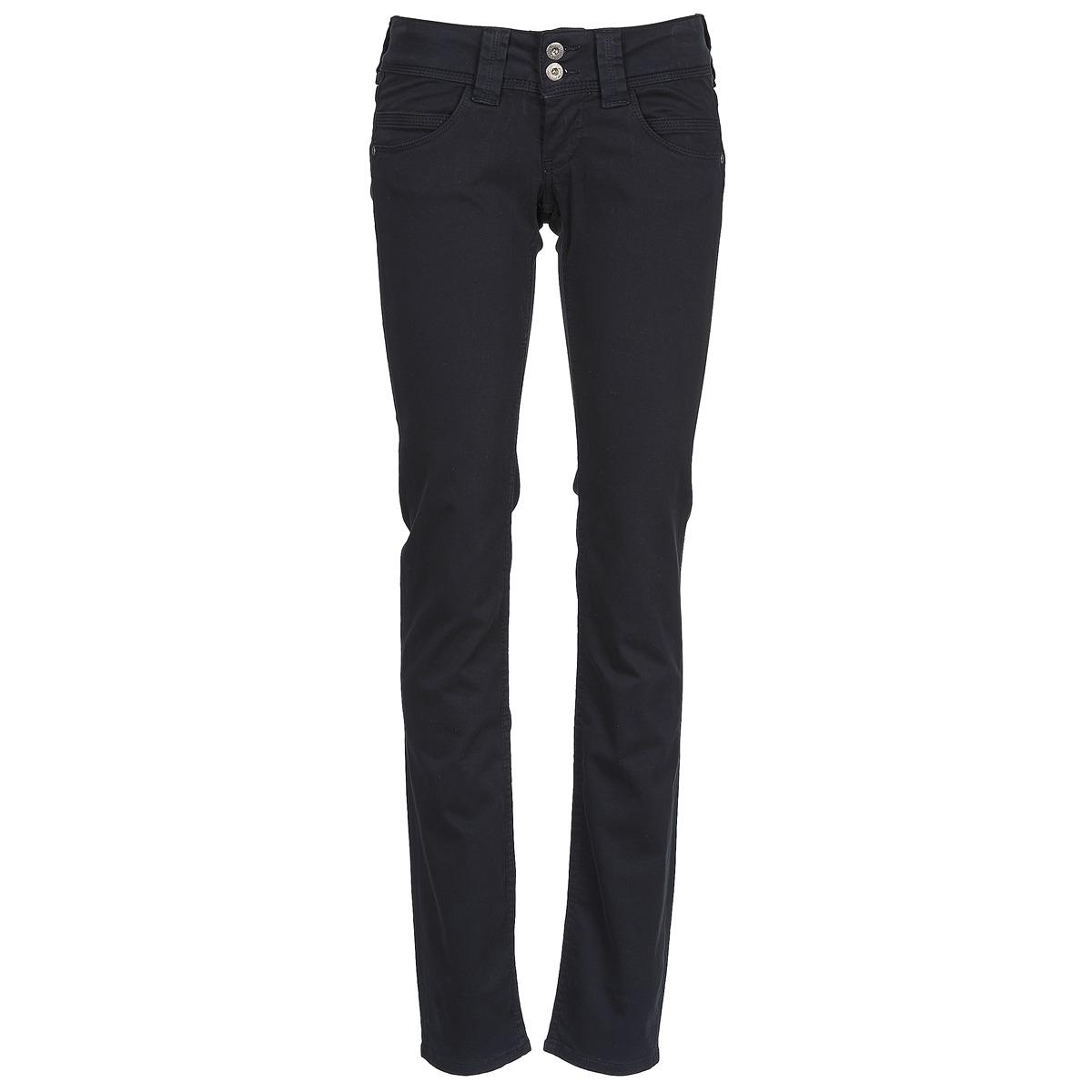 5 pocket trousers pepe jeans venus black free delivery. Black Bedroom Furniture Sets. Home Design Ideas