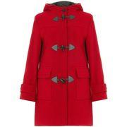 Duffel coats De la creme Red Womens Wool & Cashmere Winter Hooded Duffle Coat