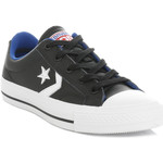 Low top trainers Converse Mens Womens Black & White Star Player Leather Trainers