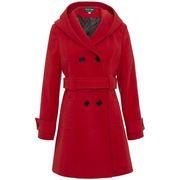 Parkas De la creme Womens Hooded Winter Belted Coat