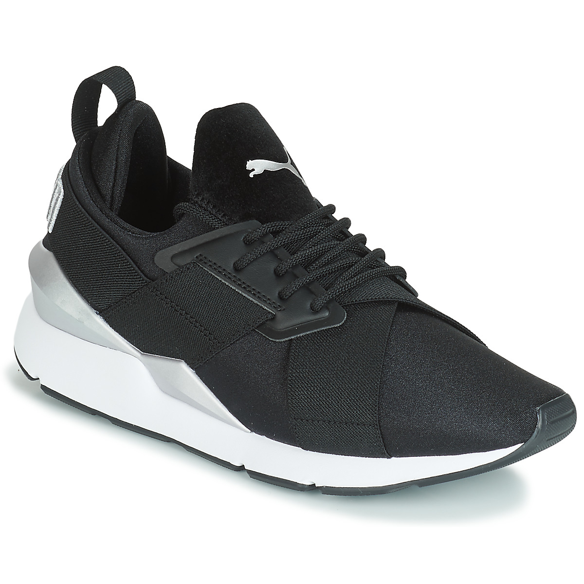 Puma WN MUSE SATIN II.BLACK women's Shoes (Trainers) in Black