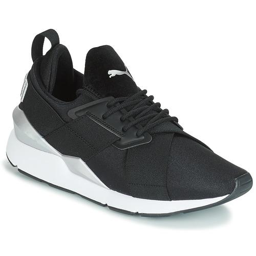 Shoes Women Low top trainers Puma WN MUSE SATIN II.BLACK Black