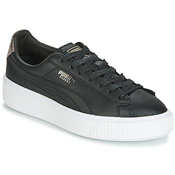 b17b2c35a33 Shoes Women Low top trainers Puma WN SUEDE PLATFM OPULENT.BL Black