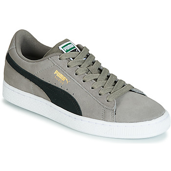 Shoes Boy Low top trainers Puma JR SUEDE CLASSIC.CHARCO-BL Grey
