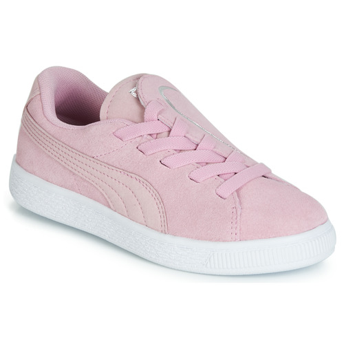 Shoes Girl Low top trainers Puma PS SUEDE CRUSH AC.LILAC Lilac