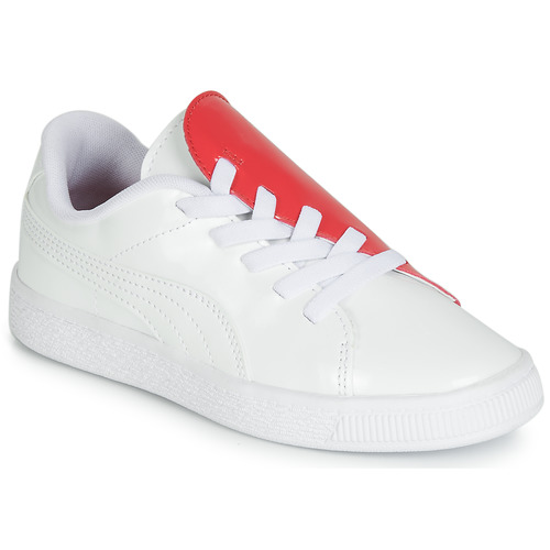 Shoes Girl Low top trainers Puma PS BKT CRUSH PATENT AC.W-H White