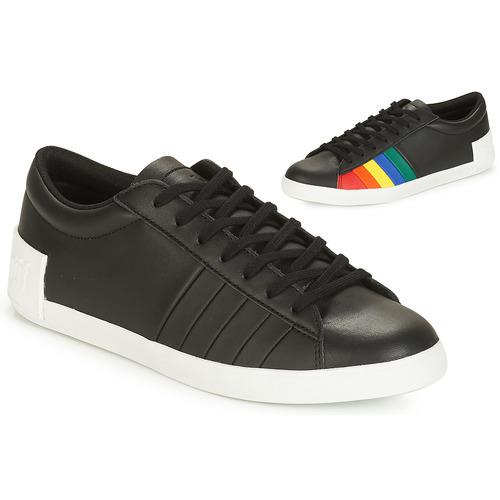 Shoes Women Low top trainers Le Coq Sportif FLAG Black / Multicoloured