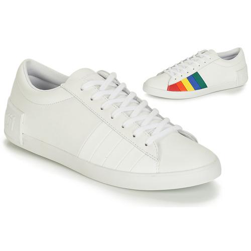 Shoes Women Low top trainers Le Coq Sportif FLAG White / Multicoloured