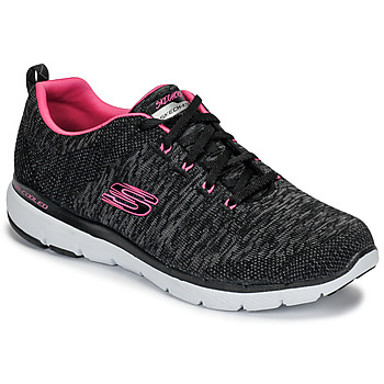 Shoes Women Fitness / Training Skechers FLEX APPEAL 3.0 Black / Pink