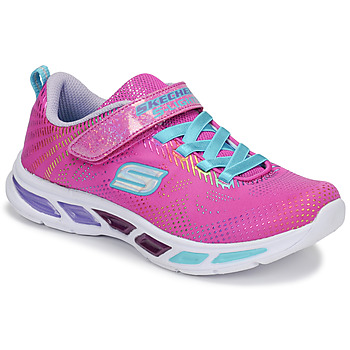 Shoes Girl Low top trainers Skechers LITEBEAMS Pink