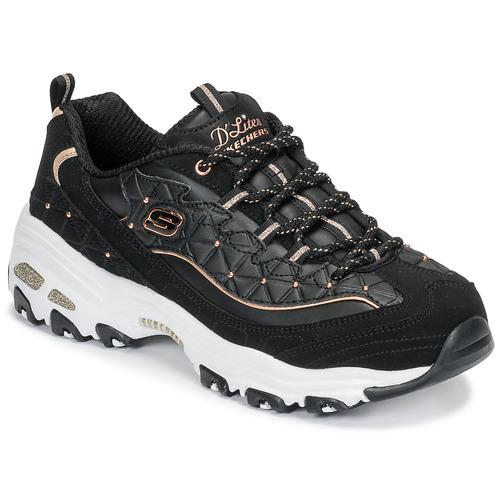 Shoes Women Low top trainers Skechers D'LITES GLAMOUR FEELS Black