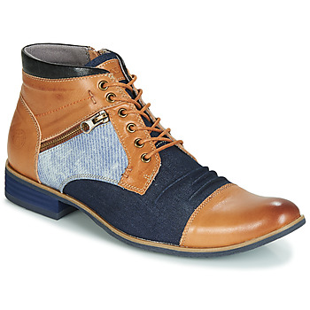 Shoes Men Mid boots Kdopa ALMERIA Camel / Blue