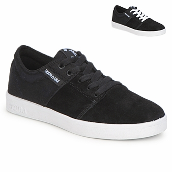 Shoes Low top trainers Supra STACKS Black / White