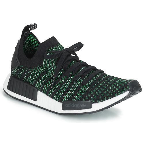 Shoes Low top trainers adidas Originals NMD_R1 STLT PK Black / Green