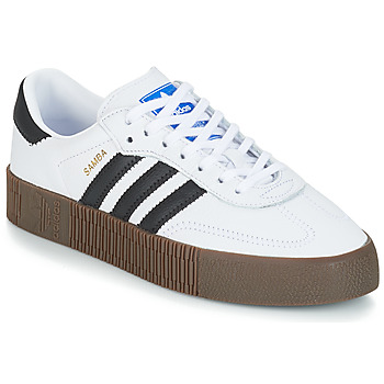 Shoes Women Low top trainers adidas Originals SAMBAROSE W White / Black