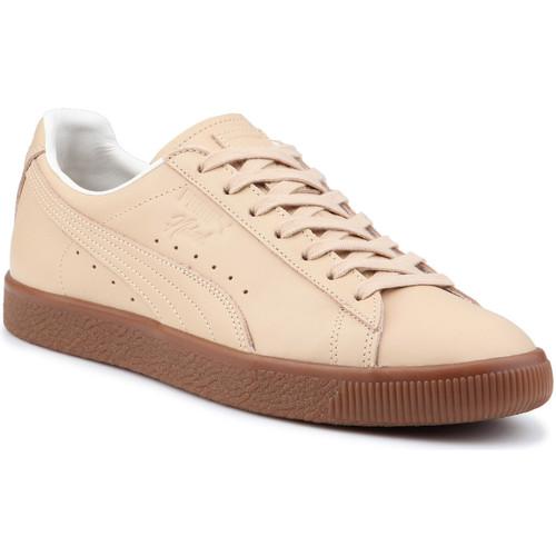 Shoes Men Low top trainers Puma Lifestyle shoes  Clyde Veg Tan Naturel 364451 01 beige