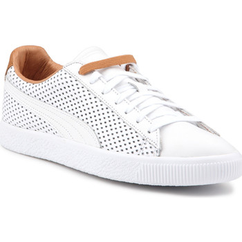 Shoes Men Low top trainers Puma Lifestyle shoes  Clyde Colorblock 2 363833 01 white, brown