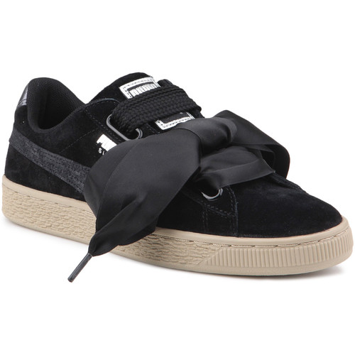 Shoes Women Low top trainers Puma Lifestyle shoes   Suede Heart Safari Wns 364083 03 black