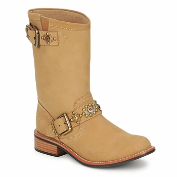 Shoes Women Mid boots Miss L'Fire MCQUEEN BEIGE