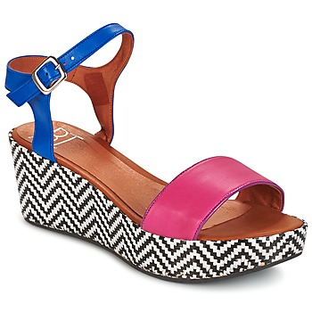 Shoes Women Sandals Betty London COQUETTE Fuschia / Blue