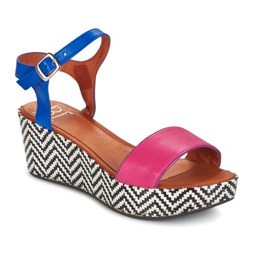 Shoes Women Sandals Betty London COQUETTE Fuschia / Blue