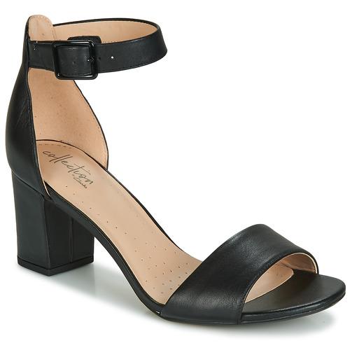 Shoes Women Heels Clarks DEVA MAE Black