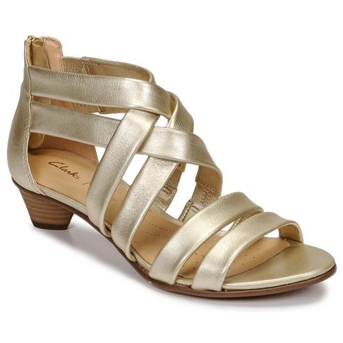 Shoes Women Sandals Clarks MENA SILK Champagne