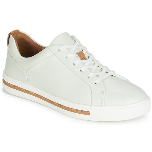 Shoes Women Low top trainers Clarks UN MAUI LACE White