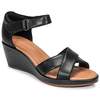 Shoes Women Sandals Clarks UN PLAZA CROSS Black