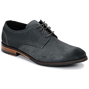 Shoes Men Derby Shoes Clarks FLOW PLAIN Grey