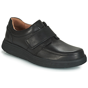 Shoes Men Derby Shoes Clarks UN ABODE STRAP Black