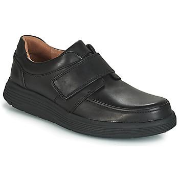 Shoes Men Derby Shoes Clarks UN ABODE STRAP Black