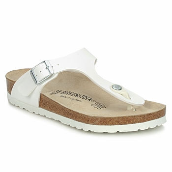 Shoes Women Flip flops Birkenstock GIZEH White