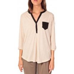 Clothing Women Tops / Blouses Tom Tailor Blouse Shirt Écru Beige