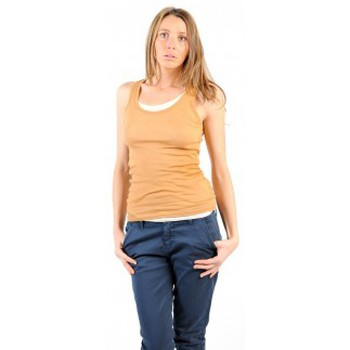 Clothing Women Tops / Sleeveless T-shirts American Vintage DEBARDEUR MAS00E11 CUMIN Yellow