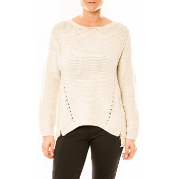 Clothing Women Jumpers By La Vitrine Pull Laetitia MEM K078 Écru Beige