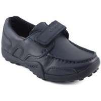 Shoes Boy Low top trainers Geox moccasin schoolboy with velcro MARINE