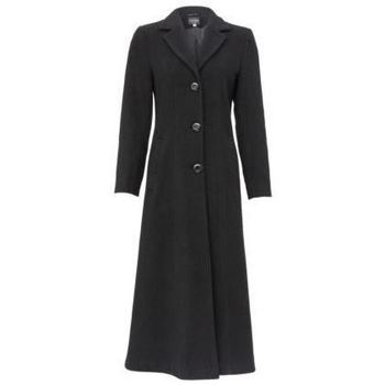Clothing Women Parkas De La Creme Double Single Fitted Long Coat BLACK