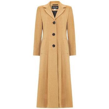 Clothing Women Parkas De La Creme Womens Long Smart Coat black