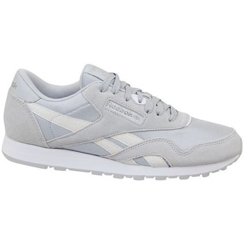 Shoes Children Low top trainers Reebok Sport CL Nylon Skull White