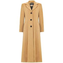Clothing Women Parkas De La Creme Womens Long Smart Coat BEIGE